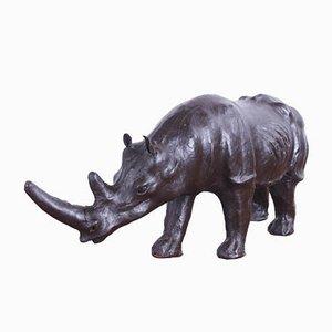 Englisches Nashorn aus Leder, 1950er