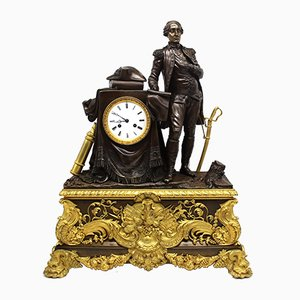 Pendeluhr aus vergoldetem Bronze von Louis Philippe, 19. Jh
