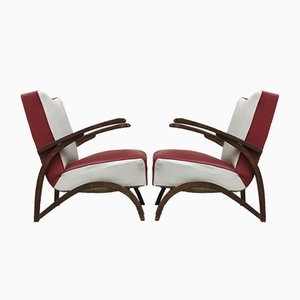 Tubular Armchairs from Setona, 1950s, Set of 2