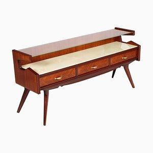 Mid-Century Walnut Console Table from La Permanente Mobili Cantù, 1954