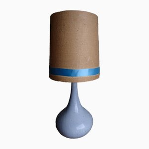 Large Gray & Blue Ceramic Table Lamp, 1960s