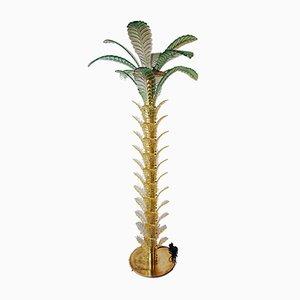 Lampada da terra vintage a forma di palma in vetro di Murano