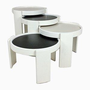 Tavolini a incastro nr. 780 di Gianfranco Frattini per Cassina, Italia, anni '60, set di 4