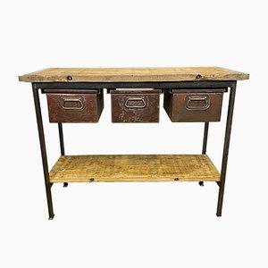 Industrieller Vintage Werktisch, 1960er