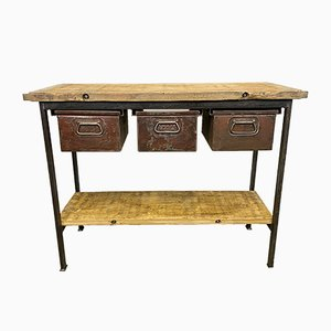 Vintage Industrial Worktable, 1960s