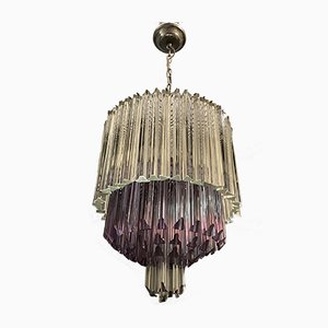 Large Murano Glass Prism Chandelier by Paolo Venini, 1970s