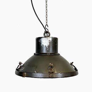 Industrial Aluminum & Glass Ceiling Lamp, 1960s