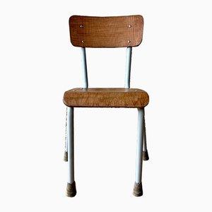 Chaise d'Enfant Mid-Century en Bois et Métal, 1950s