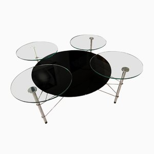 Vintage Glass Coffee Table by Michel Boyer for Roche Bobois, 1990s
