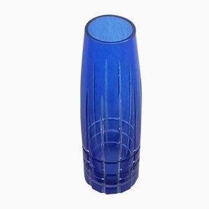 Blue Crystal Vase, 1960s