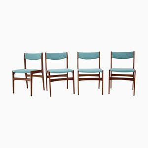 Beech Dining Chairs, Czechoslovakia, 1960s, Set of 4