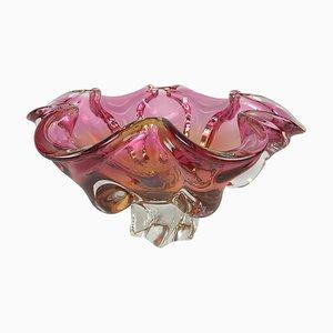 Vintage Kunstglas Schale von Josef Hospodka für Chribska Glasworks, 1960er