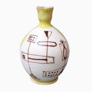 Mid-Century Italian Ceramic Vase by Guido Gambone, 1950s