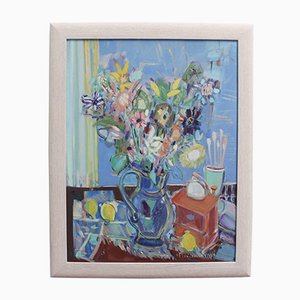 Maurice Empi, Blumenstrauß, 1970er, Öl auf Leinwand