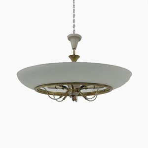 Lampada da soffitto vintage in vetro di Stilnovo