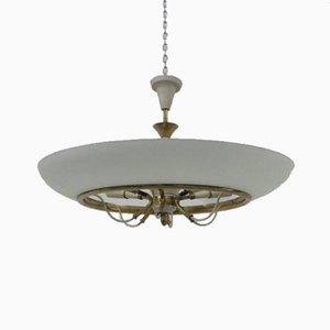 Lámpara de techo italiana vintage de vidrio de Stilnovo