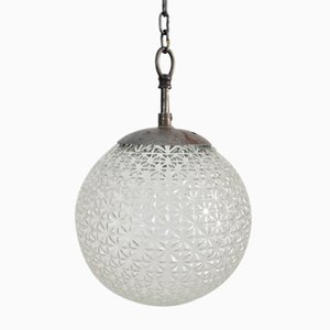 Czech Antique Glass Pendant Light