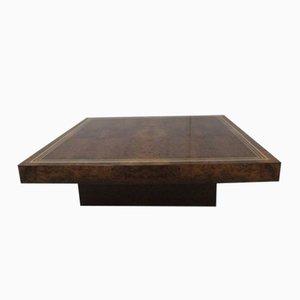 Tavolino da caffè basso in legno, anni '70