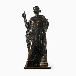 Barbedienne Bronze and Euterpe Collas Muse of Lyric Poetry