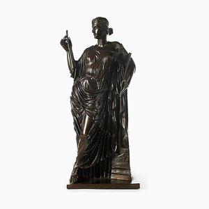 Barbedienne Bronze und Euterpe Collas Muse of Lyric Poetry