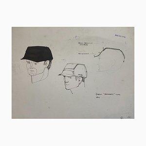 Raymond Loewy und William Snaith, Zeichnung Helmeted Man 3 für Nasa, 1968