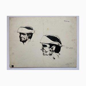 Raymond Loewy und William Snaith, Mundventil für Inflation Zeichnung für Nasa, 1968