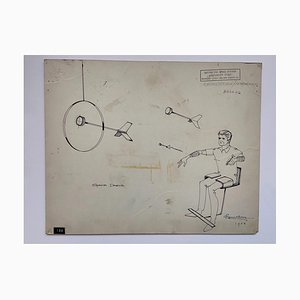 Raymond Loewy and William Snaith, Space Darts Drawing for Nasa, 1968
