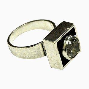 Sterling Silber Ring aus Bergkristall von Alton, 1968