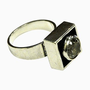 Sterling Silver Rock Crystal Ring from Alton, 1968