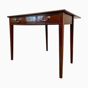 Tavolino allungabile in mogano intarsiato, XIX secolo