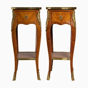 Louis XV Style Bedside Tables, Set of 2