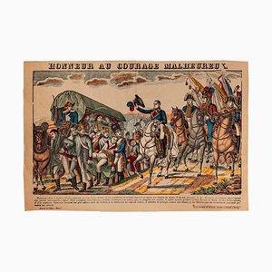 Imprimé, Epinal Print, Napoleone Bonaparte Passing, Lithographie, 19ème Siècle