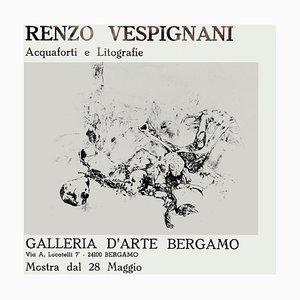 Renzo Vespignani, Vintage Exhibition Poster, 1971