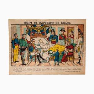 Unknown, Epinal Print, Death of Napoleone Bonaparte, Lithograph, 19th Century