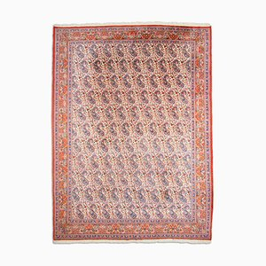Floral Khorasan Light Red Rug with Border and Paisley