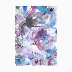 Natalia Roman, Vivid Cool Tone Curves, Graffiti Acryl auf Papier, 2020