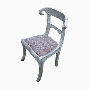 Chaise Vintage en Feuille d'Argent