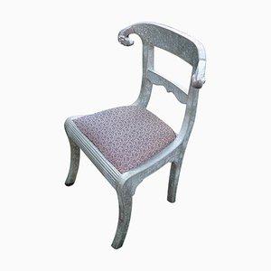 Vintage Silver Foil Chair