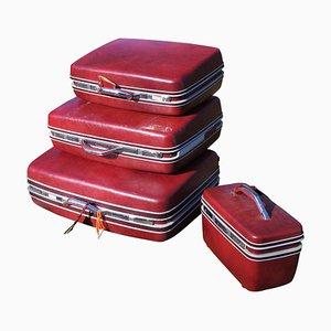 Sansonite Stiff Suitcases, 1970s, Set of 4