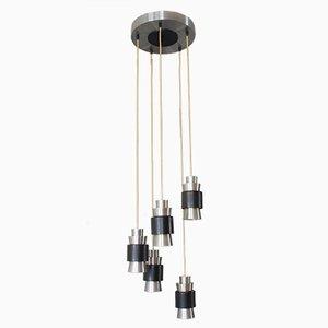Lampe à Suspension Vintage Scandinave en Aluminium par Fog et Mørup