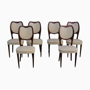 Stühle aus Mahagoni von Paolo Buffa, 1950er, 6er Set