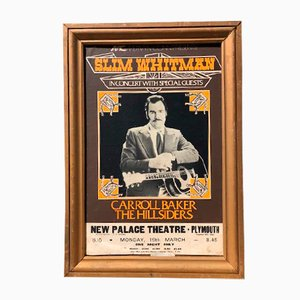 Large Slim Jim Whitman Concert Advertising Poster, 1970s