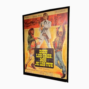Large Vintage Spaghetti Western Cinema Poster