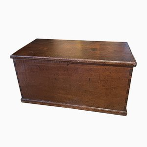 Antique Mahogany Military Travelling Chest / Coffee Table