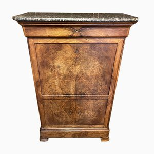 Antique French Walnut Escritoire Secretaire