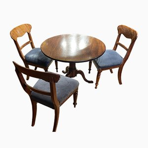 Georgian Dining Table and Gillows Chairs, Set of 4