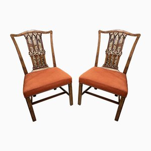 Georgian Chippendale Mahogany Chairs, Set of 2