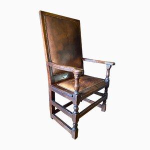 17th Century English Oak Chair, 1650s