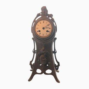 Reloj de repisa Art Nouveau antiguo de A Lesueur, 1890