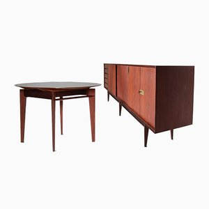 Rosewood Living Room Set by Palutari Edmondo for Dassi, 1950s, Set of 2